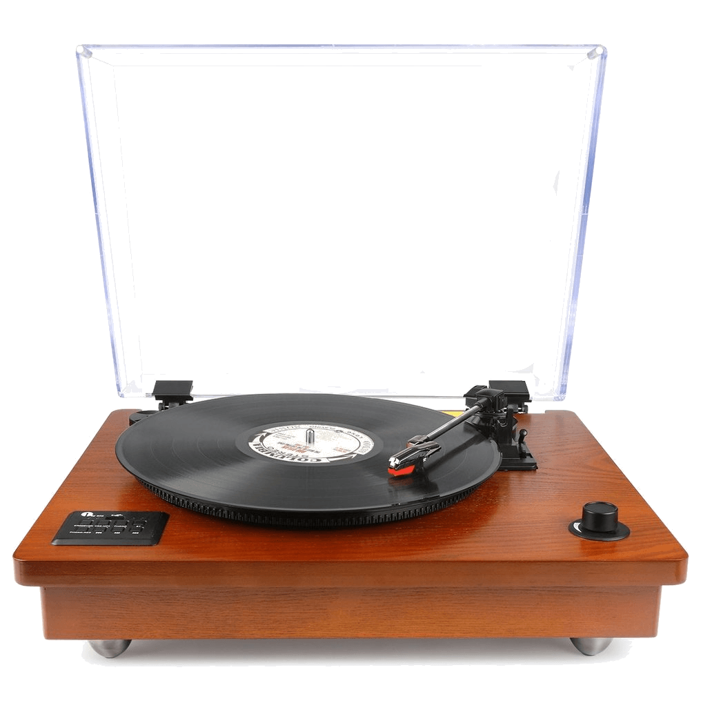 1byone Belt Driven Bluetooth Turntable with Stereo Speaker