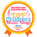 Rocking Dan Teaching Man Top Children's Music Blogs Badge
