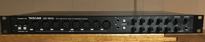 Tascam US-1800 Audio Interface Review