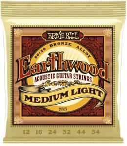 Ernie Ball Earthwood Medium Light Phosphor Bronze Acoustic Strings