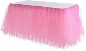 Tutu Pink Tulle Table Skirt