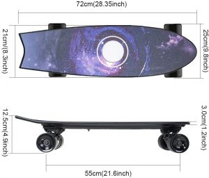 Wpond's electric skateboard.