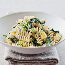 Leek and Spinach Pasta